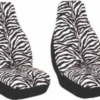 Zebra Animal Print Seat Cover 2 pcs