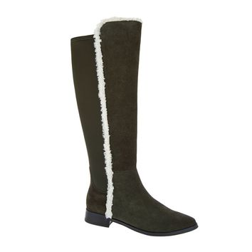 G.I.L.I. Women's Daveen Shearling & Suede Tall Shaft Boot