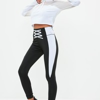 Missguided - Active Black Lattice Gym Legging