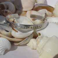 Phil 4:13 Silver Toned  Hand Stamped Bracelet (P4613)