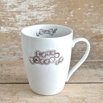 Hello Sweetie in Gallifreyan Mug, 16 oz Doctor Who Coffee Cup, Tea Cup Teacup, River Song, Phone Box, Ready to Ship