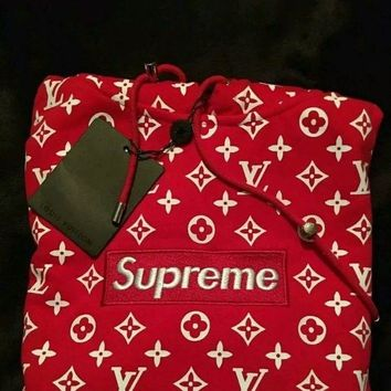 Authentic Supreme Louis Vuitton Box Logo Hoodie