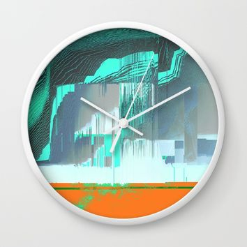 RAIN on the FOREST Wall Clock by Ducky B