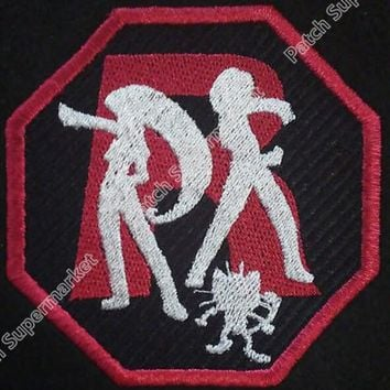 "3""  Go team Rocket patch  tv movie Embroidered Emblem rockabilly applique iron on patch halloween cosplay costumeKawaii Pokemon go  AT_89_9"