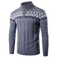 Men Clothes Casual Sweater Jumper Coat