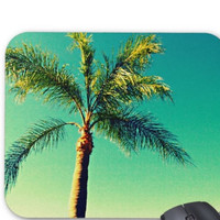 Palm Tree Mousepad - FREE Shipping to USA sublimation handmade rectangular mouse pad houseware sunny south florida summer bright bold