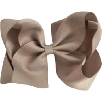 Grosgrain Boutique Hairbow, Silver