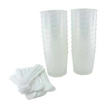 ICECUPS20 - Ice Resin Mixing Cups And White Stir Sticks 20 Ea | Pkg 1