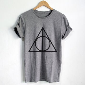 Deathly Hallows shirt Harry Potter t shirt Harry Potter clothing Unisex tshirt tumblr shirts