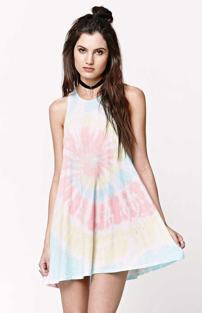 Gypsy Warrior Goddess Neck Tie Dye Dress from PacSun  b885759c6