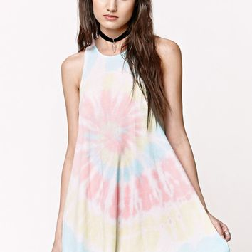 Gypsy Warrior Goddess Neck Tie Dye Dress - Womens Dress - Tie Dye