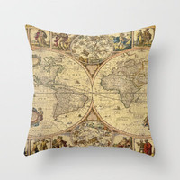 The puzzled world Throw Pillow by Armine Nersisyan