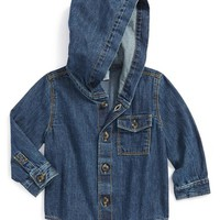 Infant Boy's Tucker + Tate Hooded Denim Shirt