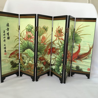 Feng Shui Tabletop Art with Fish Paintings