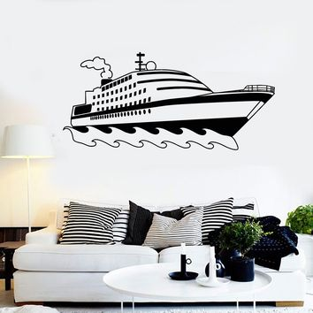 Vinyl Decal Ship Boat Yacht Children's Room Nautical Decor Wall Stickers Unique Gift (ig2791)