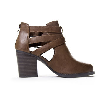 Dark Brown Scribe Ankle Booties