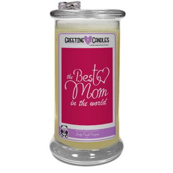 Best Mom In The World!  - Jewelry Greeting Candles