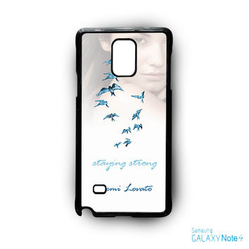 Demi Lovato Staying Strong for Samsung Galaxy Note 2/Note 3/Note 4/Note 5/Note Edge phone case
