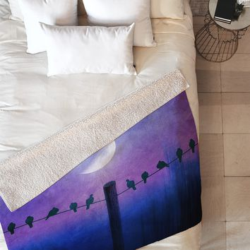 Viviana Gonzalez Symphony In Purple Fleece Throw Blanket