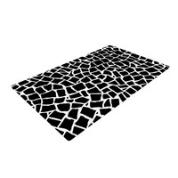 """Project M """"British Mosaic Black"""" Woven Area Rug, 4' x 6'  - Outlet Item"""