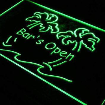 Bar is Open Palm Trees Neon Sign (LED)