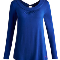 Dark Blue Alcote Womens Jersey Top  | Joules UK