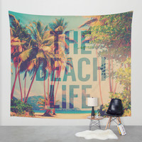 Beach Life Wall Tapestry by M Studio