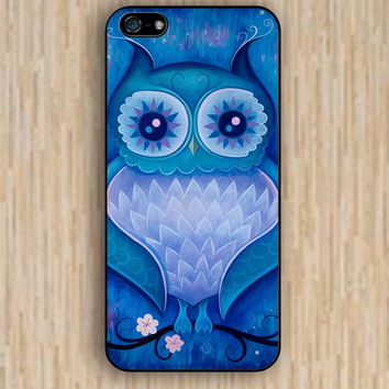 iPhone 4s case blue night owl colorful case iphone case,ipod case,samsung galaxy case available plastic rubber case waterproof B018