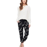 Windswept Words Silk Pant by Juicy Couture