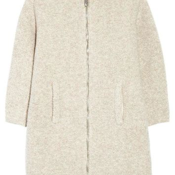 ONETOW balenciaga wool blend boucle coat 2