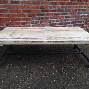 Industrial Style Reclaimed Scaffold Rectangular Coffee Table