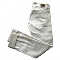 Straight jeans CHLOÉ White size 36 FR in Cotton Spring / Summer - 521299