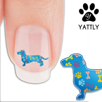Dachshund Paws and Bones - Nail Art Decals (Now! 50% more FREE)