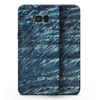 Abstract Wet Paint Blues v972 - Samsung Galaxy S8 Full-Body Skin Kit