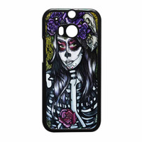 Floral Sugar Skull Day Of The Dead HTC One M8 Case