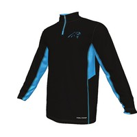 Majestic Carolina Panthers Defending Zone Cool Base 1/4-Zip Fleece - Men