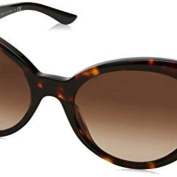 Versace Women's VE4306Q Havana/Havana/Brown Gradient