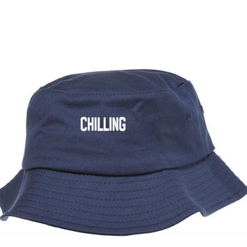 CHILLING EMBROIDERY Bucket Hat