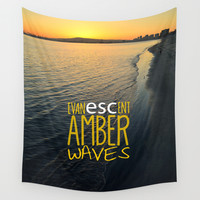Evanescent Escape ~ Amber Waves Wall Tapestry by RichCaspian