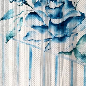 'Blue Rose Striped' by AdrianaMijaiche