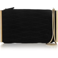 Lanvin - Private quilted suede clutch
