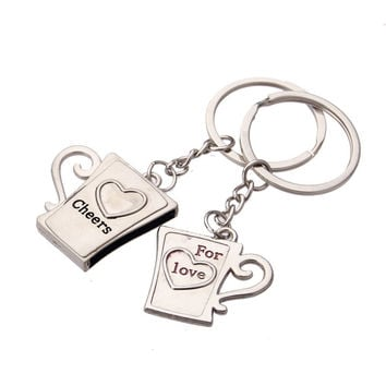 Coffee Cute On Sale Drinks Hot Deal Couple Keychain Love Innovative Gifts Men Chain Cup [11496560335]