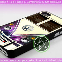 Star Nebula Galaxy VW Minibus for iPhone 4-4s, iPhone 5, Samsung S2, S3, S4 Case