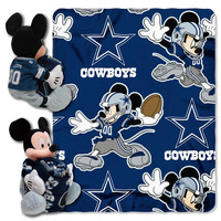 Dallas Cowboys NFL Mickey Mouse with Throw Combo