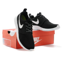 nike/Nike men's Shoes Women's network breathable leisure sports shoes black and white running shoes travel hundred shoes