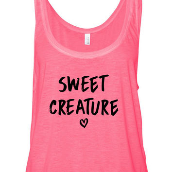 "Harry Styles ""Sweet Creature"" Heart Boxy, Cropped Tank Top"