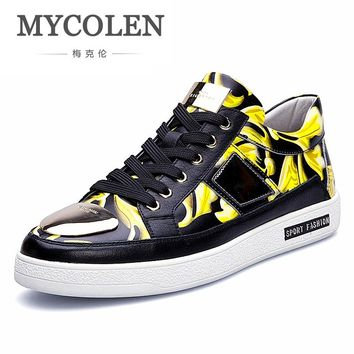 MYCOLEN 2018 Hot Sale Fashion Casual Shoes For Men High Quality Breathable Lightweight Lace-Up Male Shoes Tenis Branco Masculino