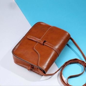 Ladies Cross Body Bag  Vintage Purse Bag Leather Cross Body