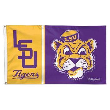 """LSU TIGERS VAULT """"LSU"""" 3'X5' DELUXE FLAG BRAND NEW  SHIPPING WINCRAFT"""