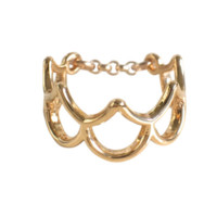 Keani Jewelry Mergaze Mermaid Scale Ring 14K Heavy Gold Plated or Sterling Silver
